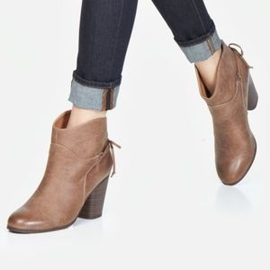JustFab Lolis Taupe Booties 10
